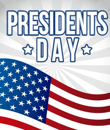 bandiera stati uniti: presidenti day background, bandiera stati uniti. illustrazione vettoriale