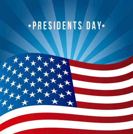 presidents day background, united states flag. vector illustration Stock Vector - 17349554