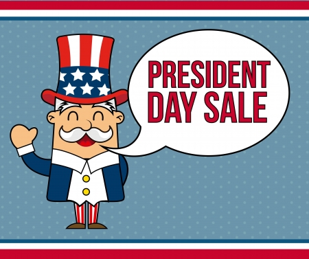 presidents day background, uncle sam. vector illustration Vector