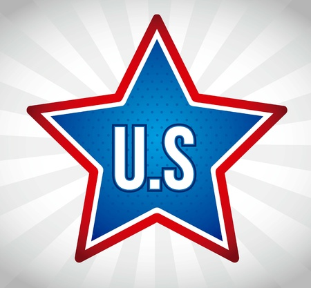 us over star over gray background, united states. vector illustration Stock Vector - 17349366