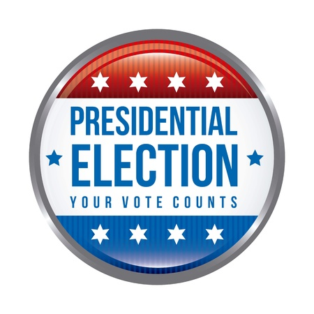 presidential election: presidential election background, united states. vector illustration