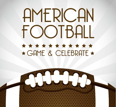 annoucement: american football over gray background. vector illustration
