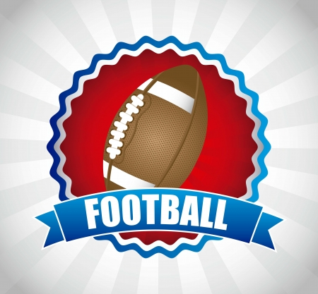pigskin: american football over gray background. vector illustration