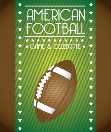 american football over green background. vector illustration Stock Vector - 17349509