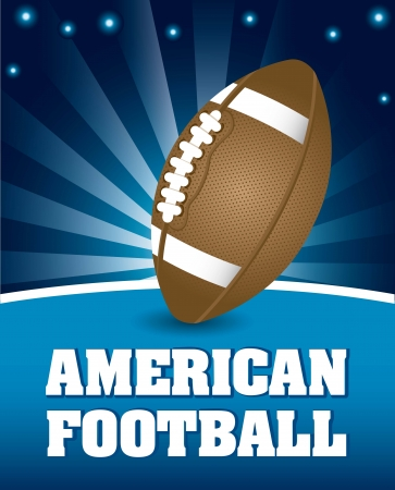 american football ball over night background. vector illustration Stock Vector - 17349558
