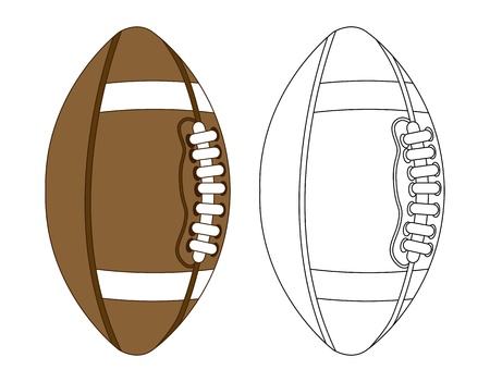 american football over white background. vector illustration