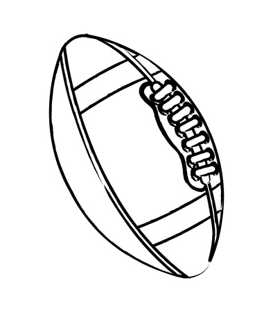 american football over white background. vector illustration Stock Vector - 17349352