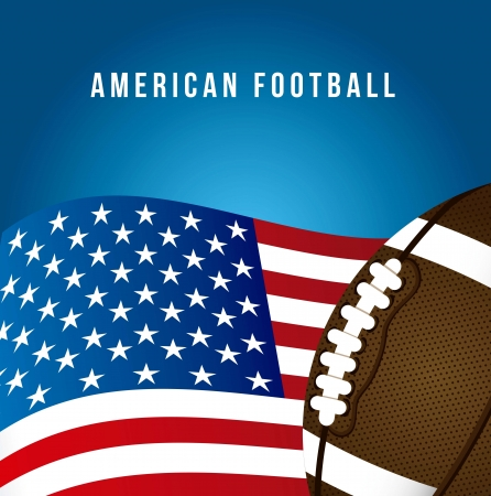 american football over blue background. vector illustration Stock Vector - 17349481