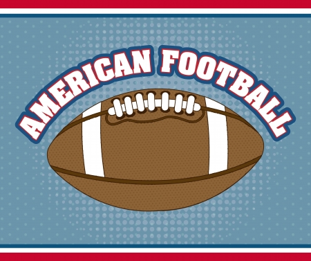 american football over blue background. vector illustration Stock Vector - 17349538