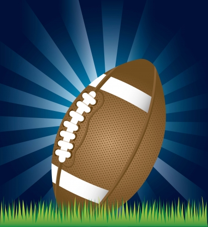 american football over night background. vector illustration Stock Vector - 17349548