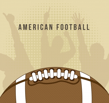 american football over vintage background. vector illustration Stock Vector - 17349478
