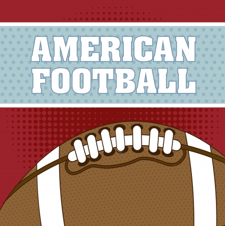 american football over red background. vector illustration Stock Vector - 17349479
