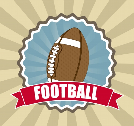 pigskin: american football over vintage background. vector illustration
