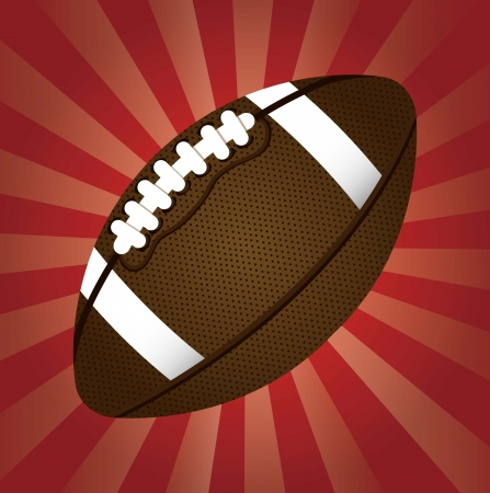 american football over red background. vector illustration Stock Vector - 17349534