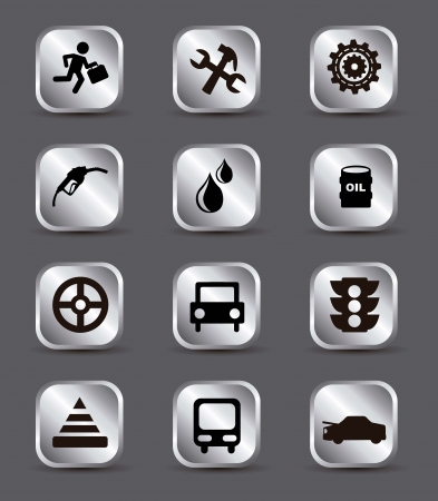 car maintenance and repair icons over gray background. vector illustration Stock Vector - 17349184