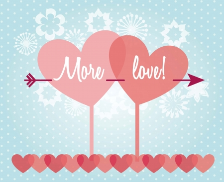 love card with hearts over blue background. vector illustration Stock Vector - 17349290