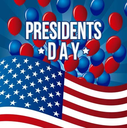 president's: presidents day background, united states. vector illustration