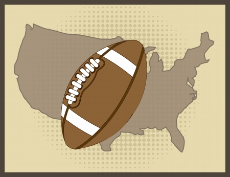 american football over vintage background. vector illustration Stock Vector - 17349382