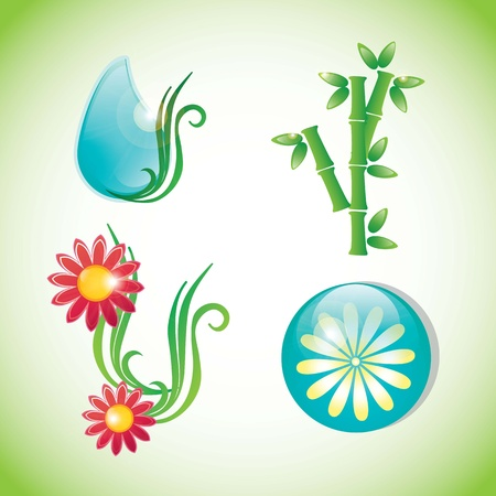 spa icons over light background vector illustration Stock Vector - 17349505