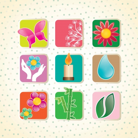 spa icons over light background vector illustration   Stock Vector - 17349468
