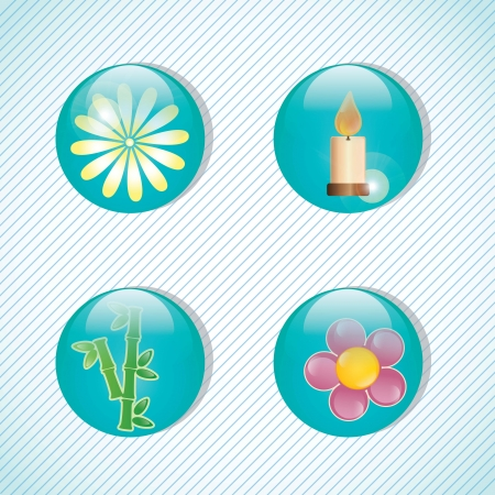 spa icons over light background vector illustration Stock Vector - 17349467