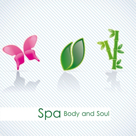 spa icons over light background vector illustration Stock Vector - 17349369