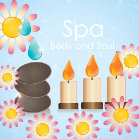 spa icons over light background vector illustration Stock Vector - 17349507