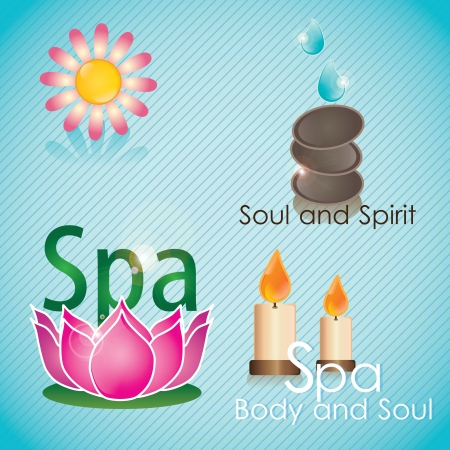 spa icons over light background vector illustration   Vector