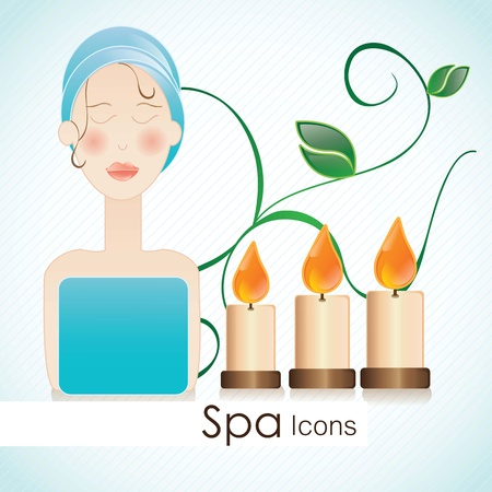 spa icons over light background vector illustration Stock Vector - 17349395