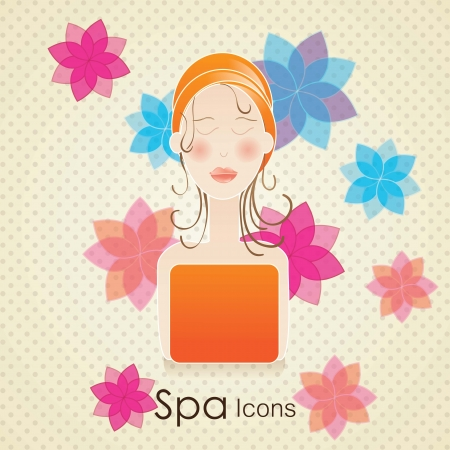 spa icons over light background vector illustration Stock Vector - 17349499