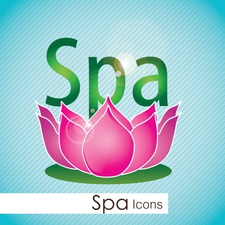 spa icons over light background vector illustration Stock Vector - 17349485