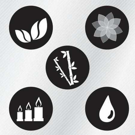 beauty therapist: spa icons over light background vector illustration   Illustration