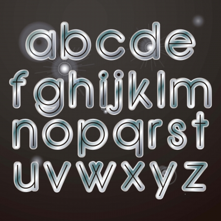 Sparkle elegant silver letters on a dark background Illustration
