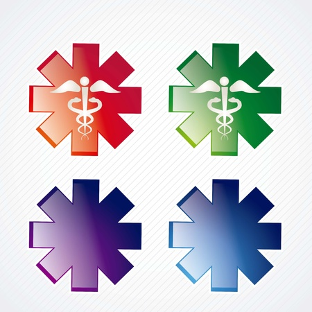 Medical icons set on grey background. vector illustration