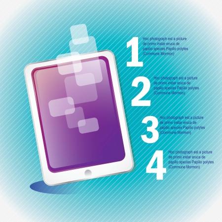 White Smartphone on blue background. Vector illustration Stock Vector - 17349454