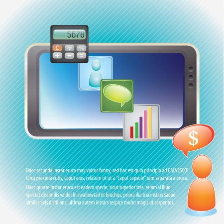 Best Price Smartphone on blue background. vector illustration Stock Vector - 17349480