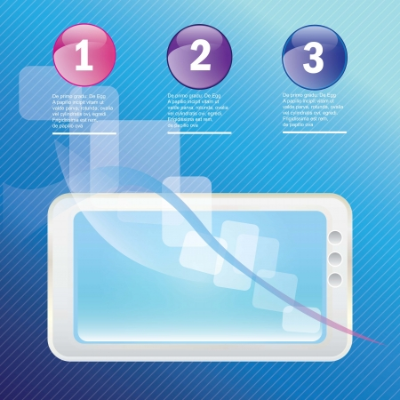 White Mobile sales, on dark blue background. Vector illustration Stock Vector - 17349492