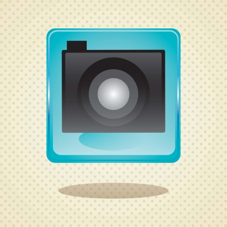 Mobile sales icons, camera application on beige background Stock Vector - 17349255