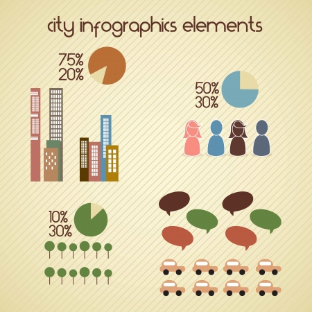 Vector design elements for infographics about city and village Stock Vector - 17349134