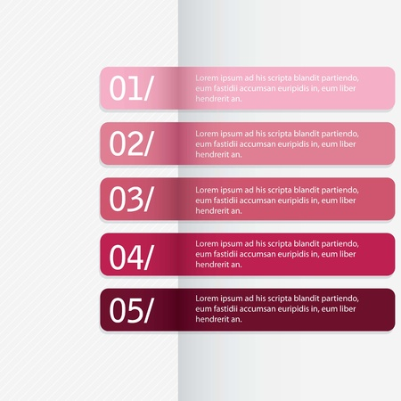 Modern Design template, for numbered banners, horizontal lines.vector