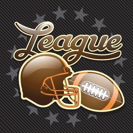 american football helmet: American Football helmet poster on black background. Vector illustration. Illustration