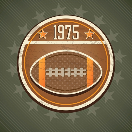 American Football retro label, on vintage background Vector