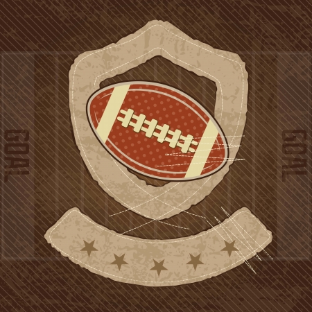 American Football shield, on vintage background, vector illustration Vector