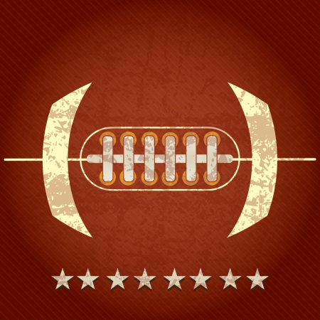 American Football abstract concept with stars, on grunge background Vector