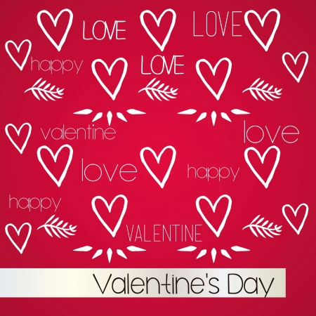 Valentines`s Day Background, special card. Vector Illustration. Stock Vector - 17350652