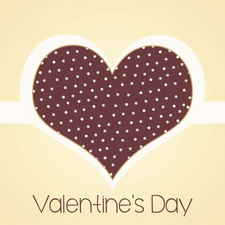 Retro heart for Valentine`s day. Vector illustration Stock Vector - 17350608