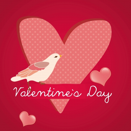 Romantic and cute Valentine`s day card. Vector Illustrator Stock Vector - 17350698