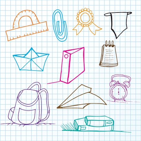 Back To school set of lines Icons. Vector  Vector
