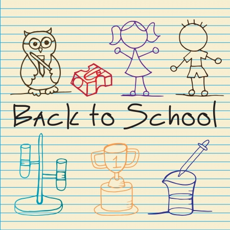 Back To school set of lines Icons. Vector   Stock Vector - 17350616