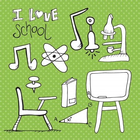 Back To school set of Icons. Vector    Vector